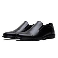 Sepatu Pantofel Kerja Pria Size Kecil Anak Sekolah Laki Laki Tanggung - Hitam, 33