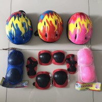 Harga dekker pengaman sepatu roda pengaman lutut sikut dna tangan helm | antitipu.com