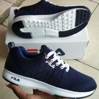 Sepatu Fila Pria Grade Ori / Sepatu Cowok Fila Olahraga Navy White
