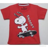 Baju kaos karakter anak laki-laki snoopy merah 1-6