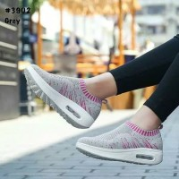 sepatu wanita slip on an 04 abu