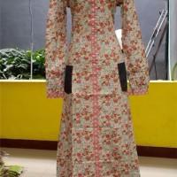 Abaya D Rainy Dannis Baju Muslim Wanita Dewasa - Pink - Motif Bunga