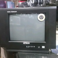 BEST QUALITY TV TABUNG 14 inch VITRON VT 07SF FREE ANTENA DALAM
