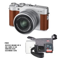 Harga fujifilm x a5 mirrorless digital camera with 15 45mm lens brown | Pembandingharga.com