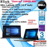 """DELL Latitude 7275 (12.5"""" Inch) Core m7-6Y57/8GB/128GB SSD/Win10Pro"""