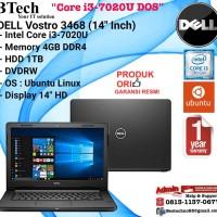 "DELL Vostro 3468 (14"" Inch) Intel Core i3-7020U/4GB/1TB/Ubuntu"