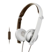 Sony MDR-S70AP Slim and Foldable Stereo Headphones White
