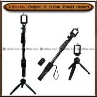 Tongsis Yunteng Free Tripod Paket Hemat 1288 Tripot Hp Handphone