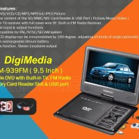 Tv dvd portable fm radio video