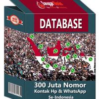 DATABASE 300 JUTA NOMOR KONTAK HP & WHATSAPP SE- INDONESIA