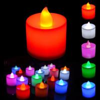 Lampu Lilin elektrik LED tanpa api mini menyala warna natal - KSY100