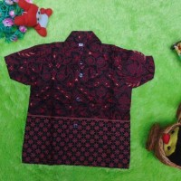 baju batik bayi anak laki-laki kemeja batik bayi hem an Murah
