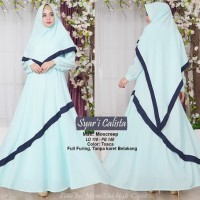 Baju Muslim Gamis Syari Mostreep Calista Biru Tashi.101