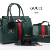 Tas wanita merk Gucci ( kw super) - hijau tua