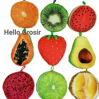 boneka bantal buah asli lucu murah fruit pillow durian strawberry kiwi