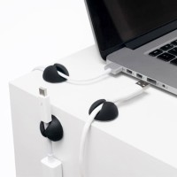 Klip Perapih Kabel Charger USB Management Cable Clip Holder Organizer