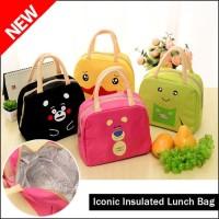 Iconic Insulated Lunch Bag Cooler WAJAH KARTUN -Tas Bekal Makan -KT06