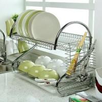 Rak Piring 2 Susun / 2 Layer Dish Drainer Stainless