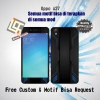 Garskin HP Oppo A37 Motif black - motif bisa request