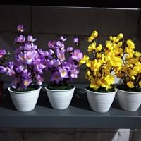 fatih sakura meja bunga plastik