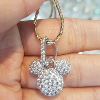 kalung + liontin mickey mouse