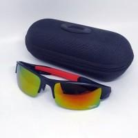kacamata sport sunglass pria polarize OK03 merah-fire