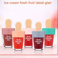 Novo Lipstik cair 5 Warna Ice cream Tahan Lama