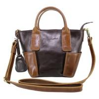 Handbag Kulit Wanita Lestari Twotone Dark Brown