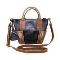 Handbag Kulit Wanita Lestari Twotone Black