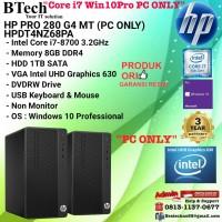 HP PRO 280 G4 MT - HPDT4NZ68PA Core i7-8700/8GB/1TB/Win10Pro PC ONLY
