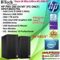 HP PRO 280 G4 MT - HPDT4NZ67PA Core i5-8400/4GB/1TB/Win10Pro PC ONLY