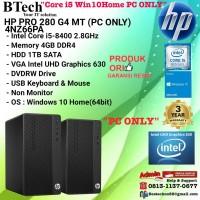 HP PRO 280 G4 MT - 4NZ66PA Core i5-8400/4GB/1TB/Win10Home/3YR PC ONLY