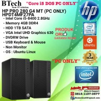 HP PRO 280 G4 MT - HPDT4MF27PA Core i5-8400/4GB/1TB/DOS/3YR PC ONLY