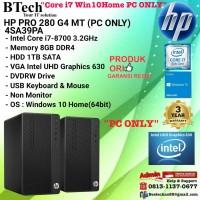 HP PRO 280 G4 MT - 4SA39PA Core i7-8700/8GB/1TB/Win10Home/3YR PC ONLY