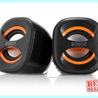 Harga hot speaker robot rs160 usb portable for pc komputer | Hargalu.com