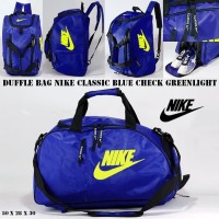 Harga tas ransel travel nike duffle bag blue check greenlight bola | Hargalu.com