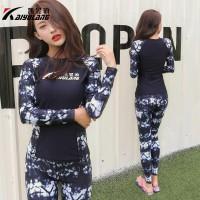 18005 Baju Renang RashGuard Lengan Panjang untuk Wanita