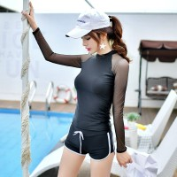 8974 Set Baju Renang Wanita Model Atasan Lengan Panjang   Celana