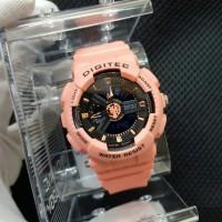 Jam Tangan Wanita Digitec DTG07 Original Sport Anti Air 10 M Pink