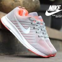 Sepatu Nike Zoom Import Women Grey White