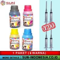 Tinta Dye for Canon SUN PREMIUM INK NFI (1 set 4 warna)