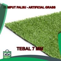 rumput palsu sintetis plastik meteran karpet keset grass