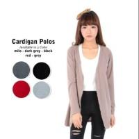 Baju Cardigan Murah Wanita Kerja Kekinian Lengan Panjang Spandex Polos