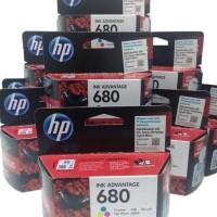TERBARU HP 680 ORIGINAL INK COLOUR / WARNA PRINTER 2135 3635 3835 4675