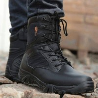Sepatu Delta 8 Cordura Gunung Import Label USA Tactical Warna Hitam