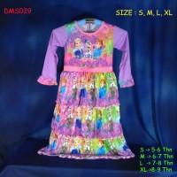 (DMS029) Baju Muslim Anak Gamis Anak Frozen Fever Rempl Murah