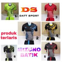 setelan olahraga kaos bola jersey futsal baju volly mizuno batik