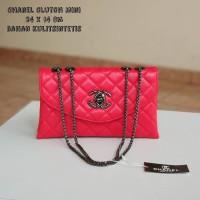 Tas Wanita Tas Pesta Santai Murah Chanel Clutch Mini Merah