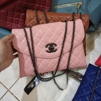 Clearance Sale Tas Wanita Murah Chanel Clutch (2 Ruang) Pink Salem