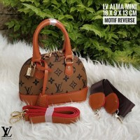 Limited Edition Tas Wanita Branded Murah Lv Alma Mono Reverse